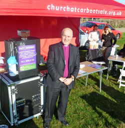 Bishop Stephen Cottrell interviewed by BBC Essex at Boreham Car Boot Sale