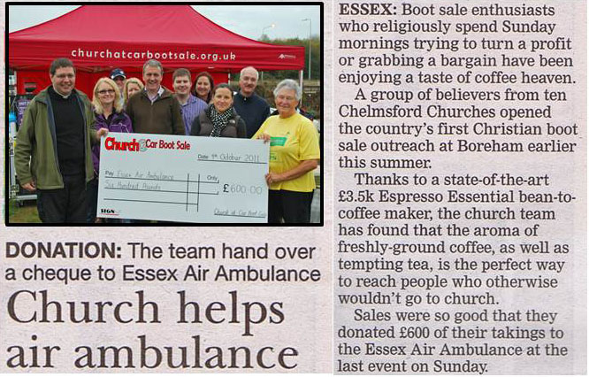 Essex Chronicle Article about Chelmsford Churches Helping Essex Air Ambulance