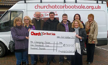Christians from eight Chelmsford churches have joined forces and raised £1500 for charity by selling hot drinks at the Boreham Car Boot Sale