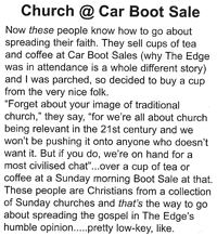 Chelmsford's The Edge Magazine reporting on Church at Car Boot Sale